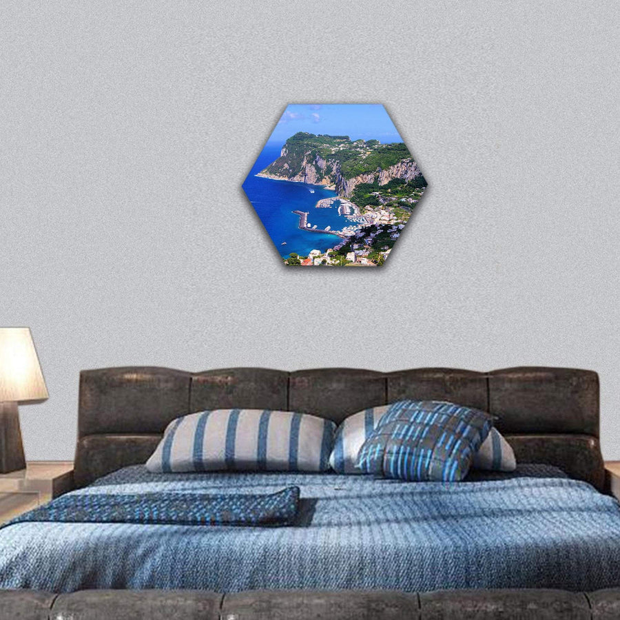 Famous Island Of Capri In Italy Hexagonal Canvas Wall Art 7 Hexa / Small / Gallery Wrap Tiaracle