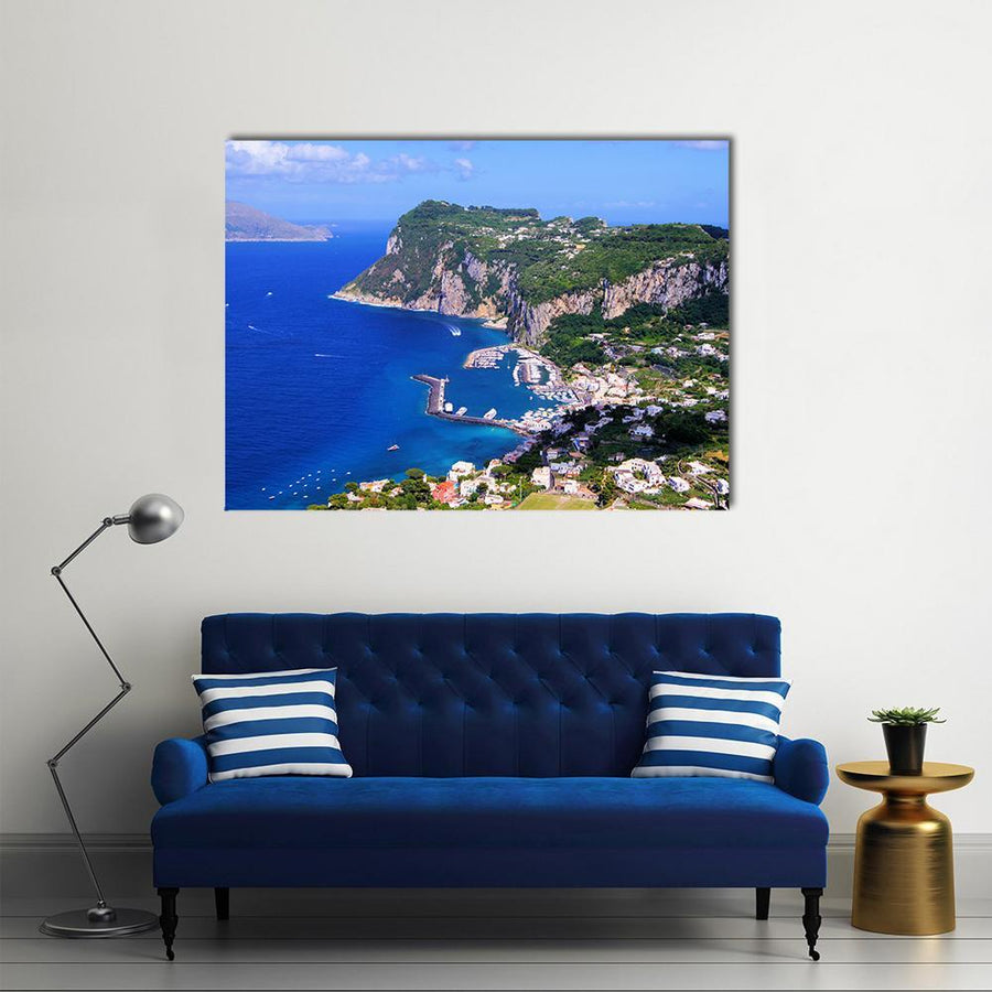 Famous Island Of Capri In Italy Multi Panel Canvas Wall Art 5 Pieces(A) / Medium / Canvas Tiaracle