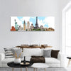 Famous Monuments Of The World Panoramic Canvas Wall Art Tiaracle