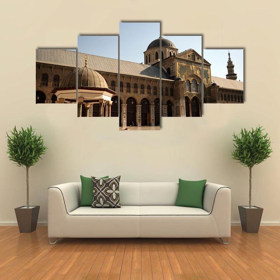 Famous Omayyad Mosque In Damascus Canva 3 Pieces / Medium / Canvas Tiaracle