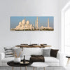 Famous Sheikh Zayed Mosque In Abu Dhabi Panoramic Canvas Wall Art 3 Piece / Small Tiaracle