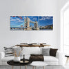 Famous Tower Bridge In London Panoramic Canvas Wall Art 3 Piece / Small Tiaracle