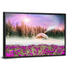 Fantastic Landscape In Winter Multi Panel Canvas Wall Art-Tiaracle