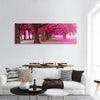 Fantasy Park With Pink Colors Panoramic Canvas Wall Art 1 Piece / Small Tiaracle