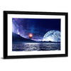 Fantasy Planet And Sea Multi Panel Canvas Wall Art-Tiaracle