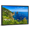 Faraglioni Cliffs Panorama Multi Panel Canvas Wall Art-Tiaracle