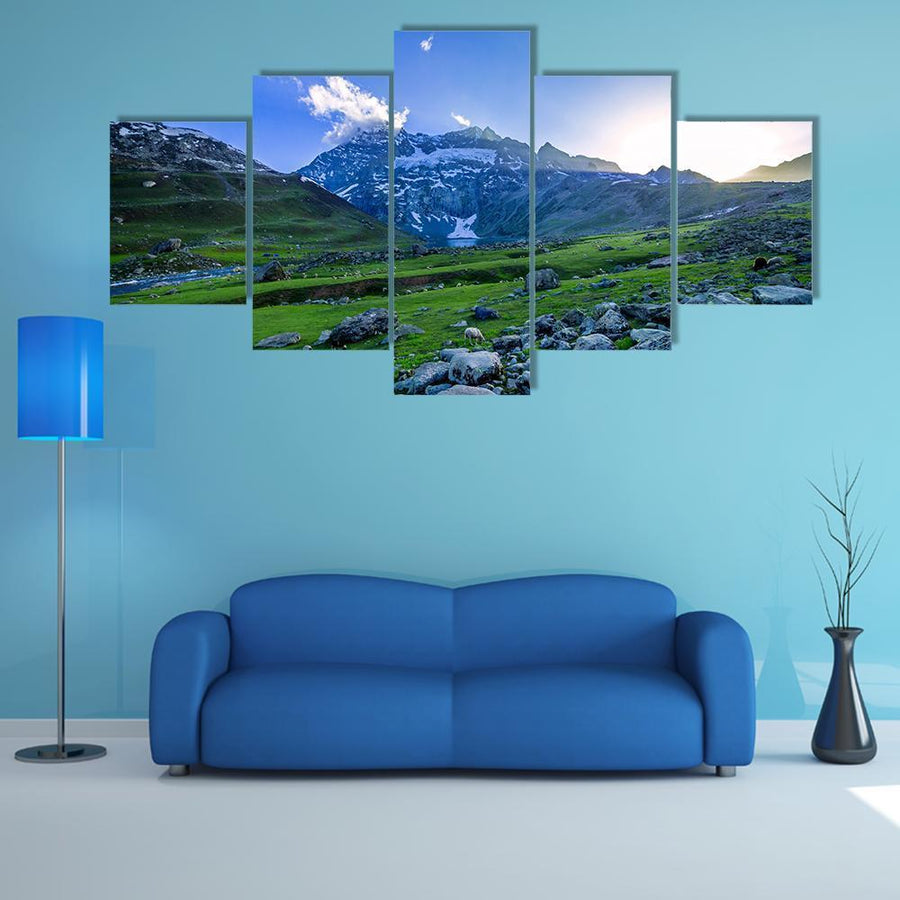 Farm With Green Field Multi Panel Canvas Wall Art 4 Pieces / Medium / Canvas Tiaracle