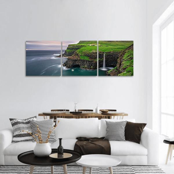 Faroe Islands In Denmark Panoramic Canvas Wall Art 1 Piece / Small Tiaracle