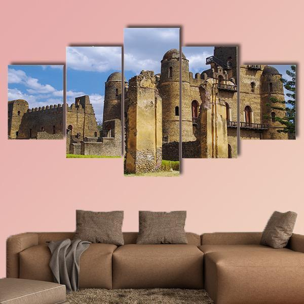 Fasilides Castle In Ethiopia Multi Panel Canvas Wall Art 3 Pieces / Medium / Canvas Tiaracle