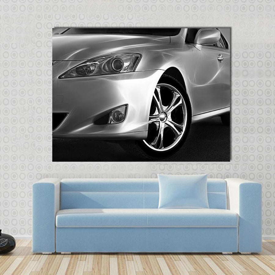 Fast Sports Car Multi Panel Canvas Wall Art 5 Horizontal / Small / Gallery Wrap Tiaracle