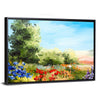 Field Of Flowers Abstract Multi Panel Canvas Wall Art-Tiaracle