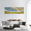 Field Under Rainbow Panoramic Canvas Wall Art 3 Piece / Small Tiaracle