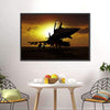 Fighter Jet At Sunset Multi Panel Canvas Wall Art-Tiaracle