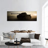 Fighting Scene On War Panoramic Canvas Wall Art 1 Piece / Small Tiaracle