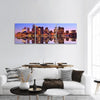 Financial District of Boston Panoramic Canvas Wall Art 3 Piece / Small Tiaracle