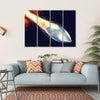 Fired Bullet Closeup Multi Panel Canvas Wall Art 4 Horizontal / Small / Gallery Wrap Tiaracle