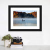 Fisherman In Foggy Morning Canvas Wall Art