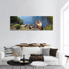 Fisherman's Canoe In Lake Panoramic Canvas Wall Art 1 Piece / Small Tiaracle