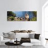Fisherman's Canoe In Lake Panoramic Canvas Wall Art