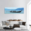 Fishing Boat In The Sea Panoramic Canvas Wall Art 1 Piece / Small Tiaracle