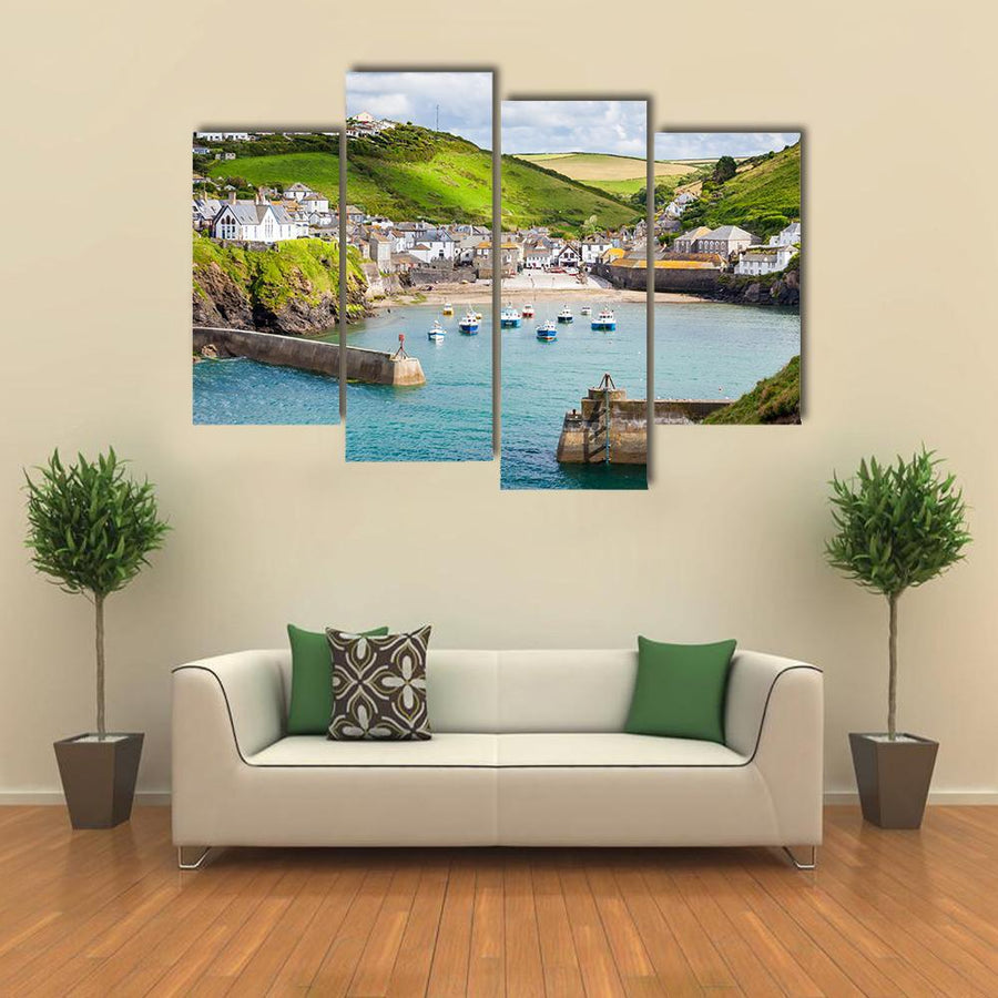 Fishing Village Of Port Isaac Multi Panel Canvas Wall Art 1 Piece / Medium / Canvas Tiaracle