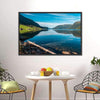 Fjord With Mountains, Norway Canvas Wall Art