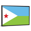 Flag Of Djibouti Canvas Wall Art