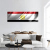 Flag Of Egypt Panoramic Canvas Wall Art 1 Piece / Small Tiaracle