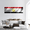 Flag Of Egypt Panoramic Canvas Wall Art 3 Piece / Small Tiaracle