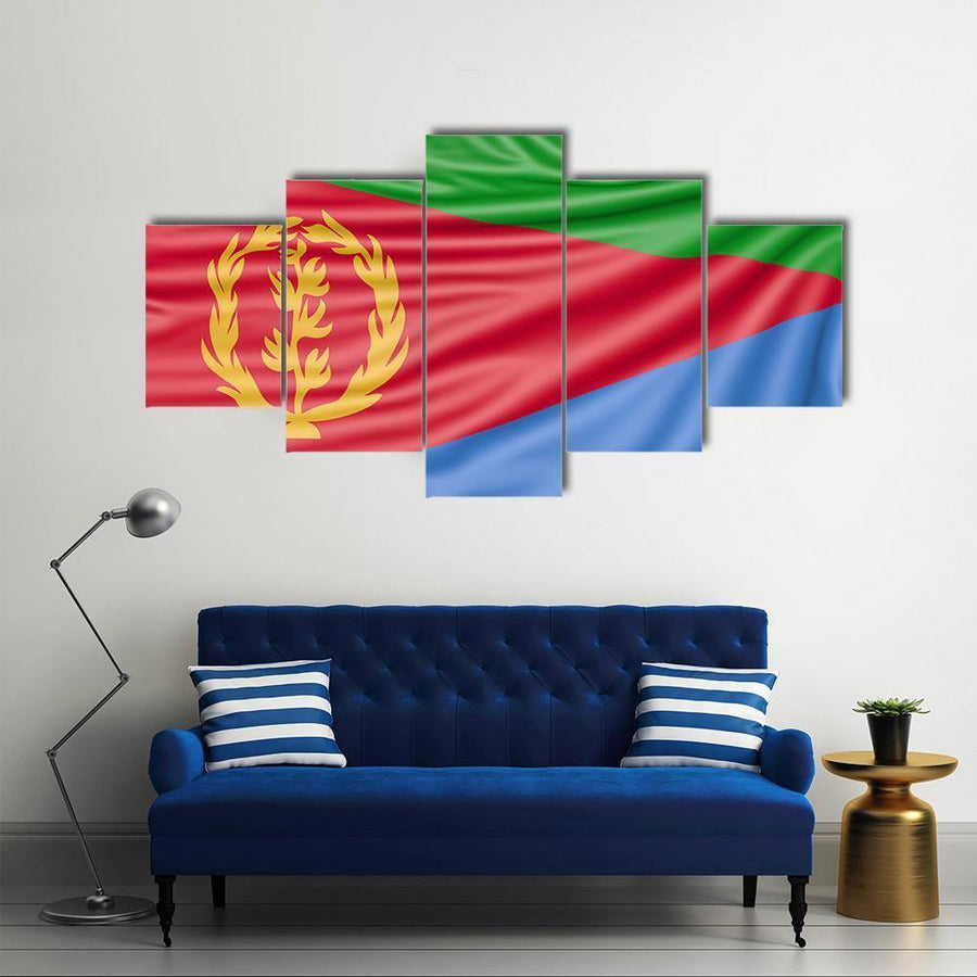 Flag Of Eritrea Multi Panel Canvas Wall Art 5 Pieces(A) / Medium / Canvas Tiaracle