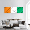 Flag Of Ivory Coast Panoramic Canvas Wall Art 3 Piece / Small Tiaracle