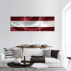 Flag Of Latvia Panoramic Canvas Wall Art 3 Piece / Small Tiaracle