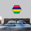 Flag Of Mauritius Hexagonal Canvas Wall Art 1 Hexa / Small / Gallery Wrap Tiaracle