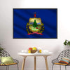 Flag Of Vermont Multi Panel Canvas Wall Art-Tiaracle