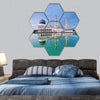 Floating Mosque In Kota Kinabalu City Hexagonal Canvas Wall Art 7 Hexa / Small / Gallery Wrap Tiaracle