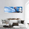 Football Player In Action Panoramic Canvas Wall Art Tiaracle