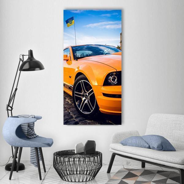 Ford Mustang Sports Car Vertical Canvas Wall Art 3 Vertical / Small / Gallery Wrap Tiaracle