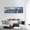 Fort Myers Pier At Sunset Panoramic Canvas Wall Art 1 Piece / Small Tiaracle