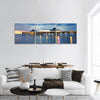 Fort Myers Pier At Sunset Panoramic Canvas Wall Art 3 Piece / Small Tiaracle