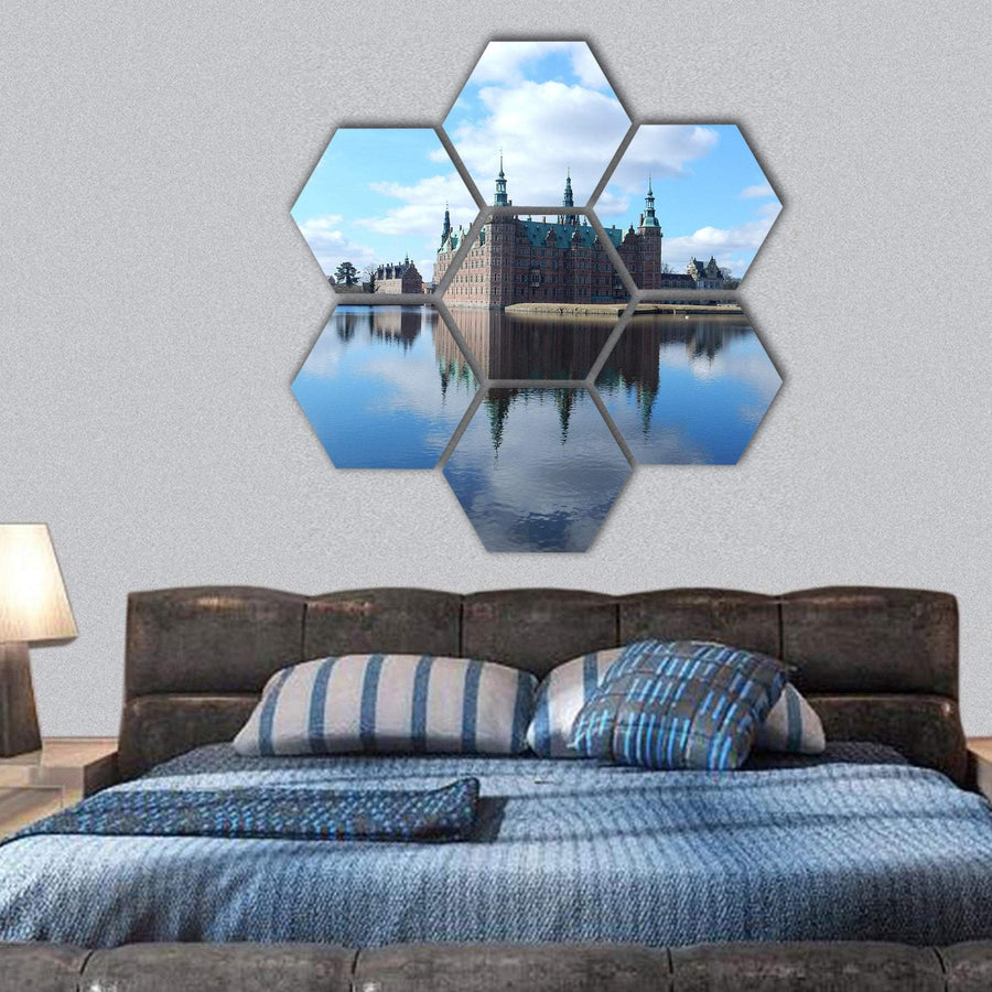 Frederiksborg Castle In Denmark Hexagonal Canvas Wall Art 1 Hexa / Small / Gallery Wrap Tiaracle