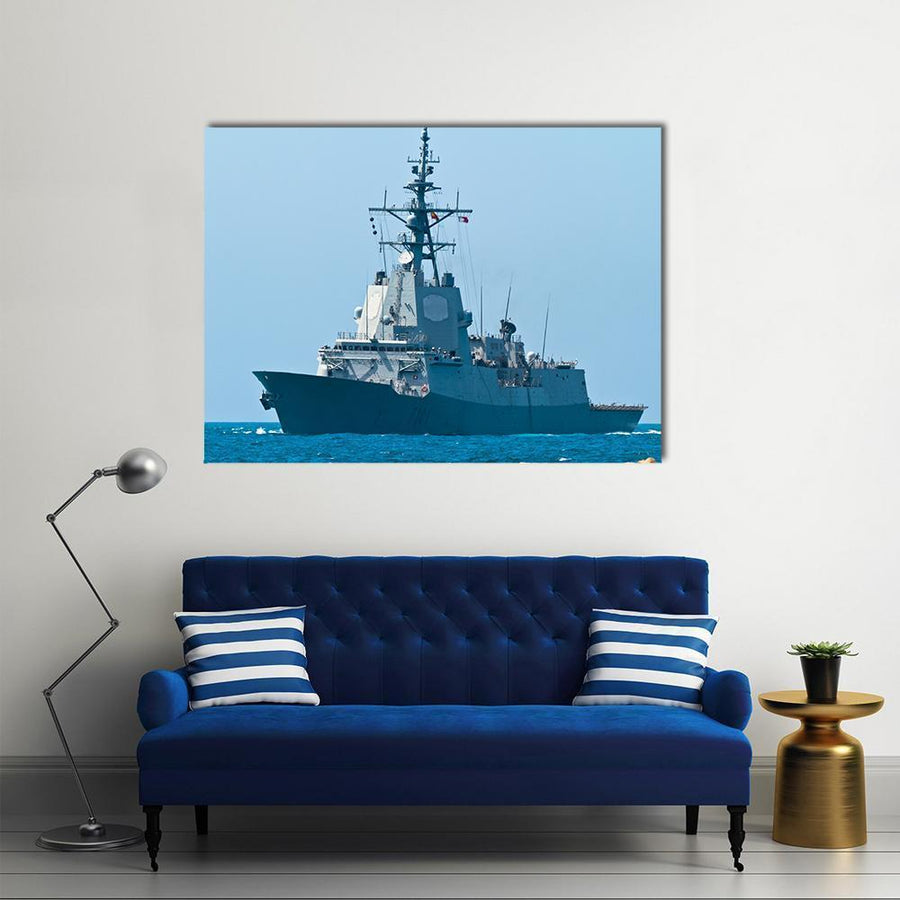 Frigate F-101 Multi Panel Canvas Wall Art 4 Horizontal / Small / Gallery Wrap Tiaracle