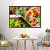 Fruits & Vegetables In Basket Canvas Wall Art