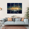 Futuristic Flying Spaceships Canvas Wall Art-4 Horizontal-Small-Gallery Wrap-Tiaracle