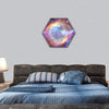 Galaxy And Nebula In Space Hexagonal Canvas Wall Art 1 Hexa / Small / Gallery Wrap Tiaracle