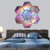 Galaxy And Nebula In Space Hexagonal Canvas Wall Art 7 Hexa / Small / Gallery Wrap Tiaracle