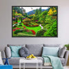 Gardens On Vancouver Island Canvas Wall Art