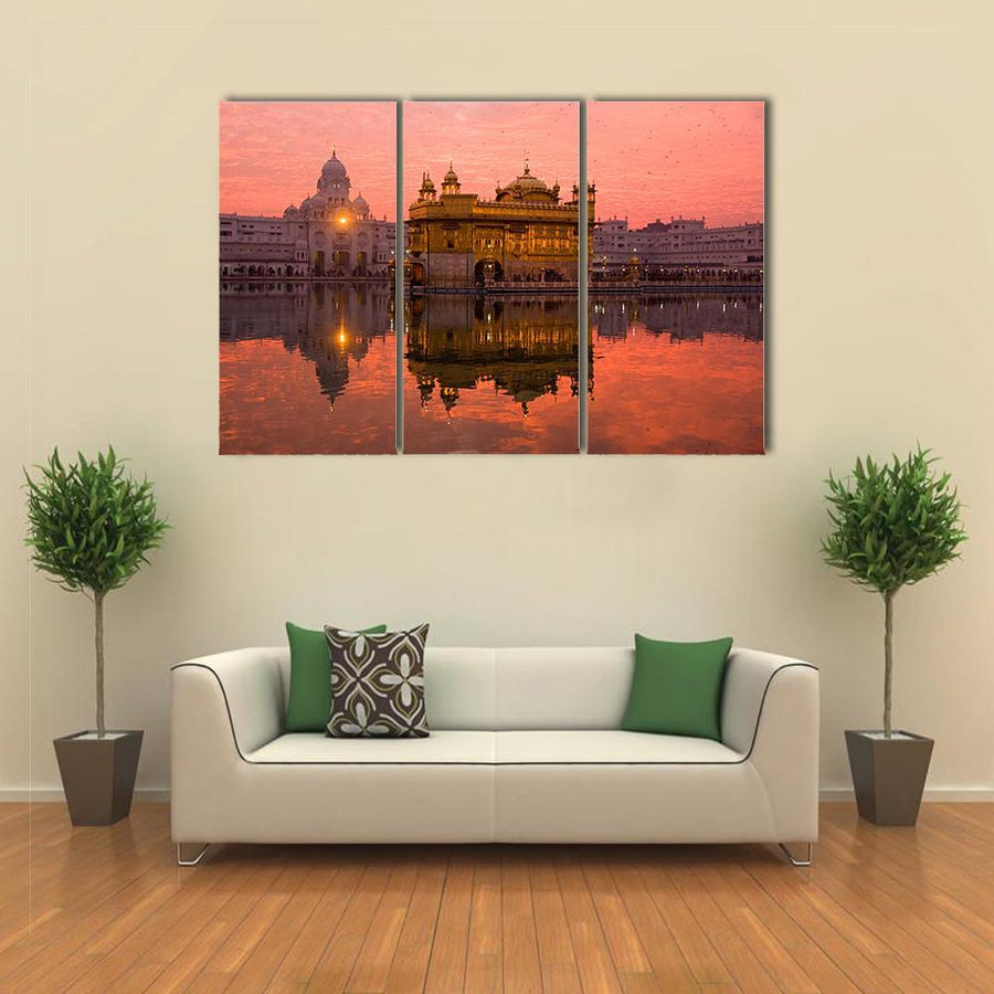 Golden Temple In Amritsar Canvas Panel Painting Tiaracle