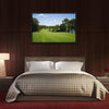 Golf Fairway Lined With Trees Multi Panel Canvas Wall Art-Tiaracle