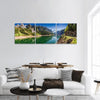 Gosausee Lake In Spring Panoramic Canvas Wall Art 3 Piece / Small Tiaracle