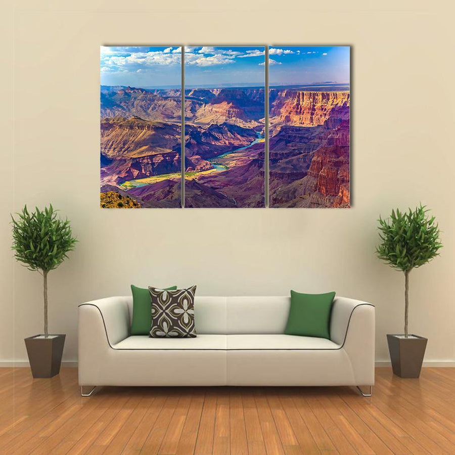 Grand Canyon At Sunrise With River Colorado Canvas Panel Painting Tiaracle
